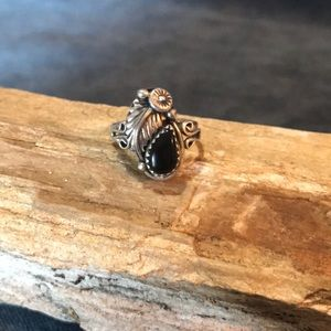 Jewelry - Navajo Sterling Silver And Black Onyx Ring